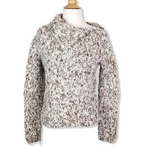 Ralph Lauren | Hand Knit Wool Blend Marled Sweater